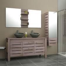 fabriquer meuble salle de bain beton cellulaire meuble de salle de bains plus de 120 brun marron moorea