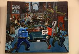 student u0027s controversial painting of ferguson removed from capitol