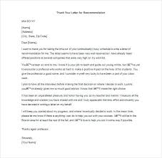 College Recommendation Letter Thank You Note Thank You Note For Letter Of Recommendation College Recommendation