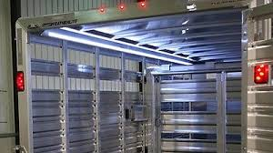 enclosed trailer led lights enclosed pull behind trailer led interior accant courtesy lighting