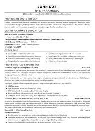 Paramedic Resume Sample Example Of Military Resume Military To Civilian Resume Sample