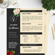 Floral Designer Resume Hipster Resume U0026 Cover Letter Template Package U2013 Janna Hagan