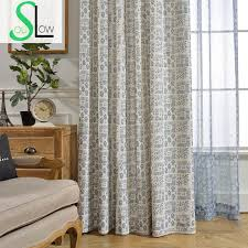 Grey Plaid Curtains Soul Green Grey Rice Blue Sen Modern Fabric Simple Shading