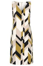 abstract pattern sleeveless dress shift dresses 2018 superdry latest styles of underwear loungewear