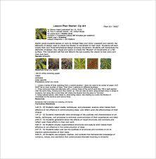 art lesson plan template u2013 12 free sample example format