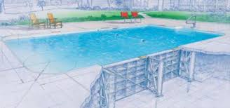 inground swimming pool structure steel wall swimming pool builders