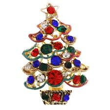 amazon com soulbreezecollection christmas tree brooch pin