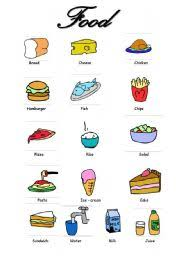 food vocabulary worksheet by filipacorreia