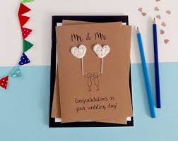 Groom And Groom Wedding Card Personalised Wedding Card Husband Special Couple