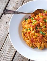 healthy bacon u0026 pumpkin pasta recipe pinch of yum