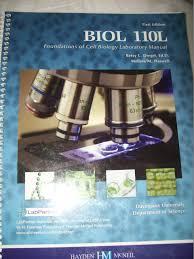 biology 110 lab manual custom haswell 9780738048420 amazon