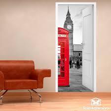 Stickers De Porte Trompe L Oeil by Open Door London Call Box