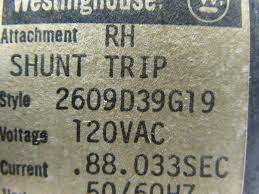 westinghouse 2609d39g19 100 amp circuit breaker 3 pole 480v rh