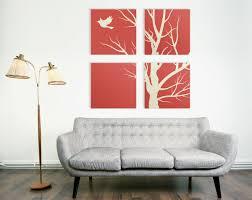 Living Room Art Sets Modern Nature Canvas Print 4 Piece Art 4 Set Square Canvas