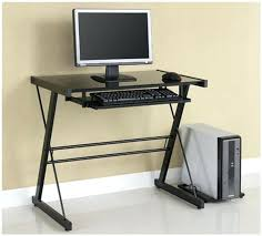 glass computer desk bookcase office chair black ebay europa with