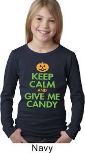 halloween long sleeve t shirts girls halloween shirt keep calm and give me candy long sleeve tee