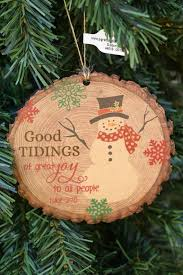 wood slice ornament from family christian stores ad get
