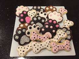 dog decorated sugar cookies for humans royal icing brown