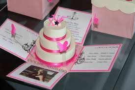 pink creme mis quince exploding box pop up invitations jinkys