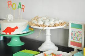 bodhi u0027s dinosaur themed third birthday party dessert table