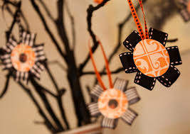 decorated halloween trees halloween ornament tutorial 7 layer studio