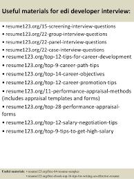 Developer Resume Template Top 8 Edi Developer Resume Samples