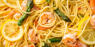 best lemony shrimp and asparagus spaghetti recipe how to make