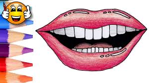 coloring pages for kids mouth lips teeth coloring for kids