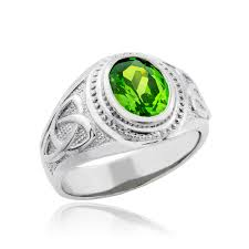 rings design for men sterling silver celtic emerald green cz mens ring
