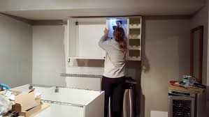 how to hang ikea kitchen wall cabinets installing ikea kitchen cabinets and countertop basement