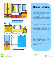 line style infographics with interior design elements vector