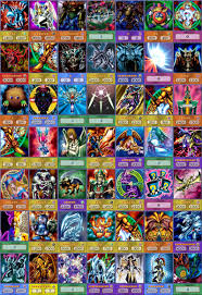 collage of anime style yugioh cards yugioh