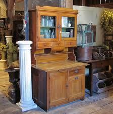 antique primitive kitchen grain painted hoosier cabinet 1900s