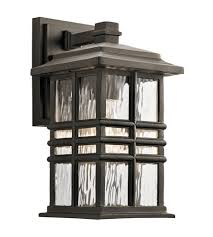 Kichler Outdoor Wall Sconce Kichler 49829oz Beacon Square 1 Light 12 Inch Olde Bronze Outdoor