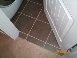 CarpetTile Transition Not Under Door Need Your Response Page - Bathroom door threshold 2