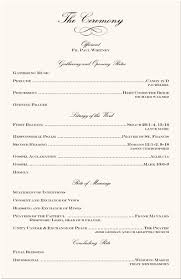 sle wedding ceremony program 29 images of bulletin template receptions learsy