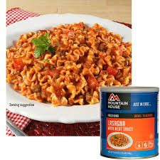 mountain house freeze dried lasagna with meat sauce 10 can 30127