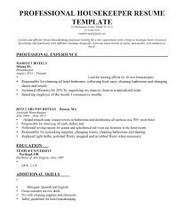 american resume sles for hotel house keeping coverter housekeeper resume sle sles career help center
