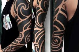 mens tribal sleeve tattoos designs