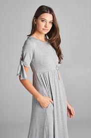 grey maxi dress tie sleeve maxi dress grey gozon boutique