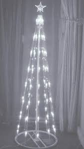 Spiral Light Christmas Tree Outdoor by 120cm 4ft Outdoor U0026 Indoor Silver 456 Led Spiral Tape Pop Up