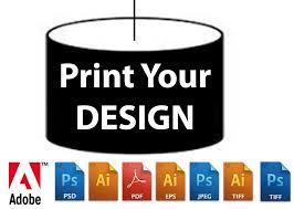 digital print for 30cm drum lampshade making kit