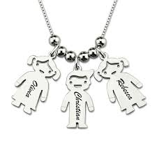 s day charm necklace engraved kids charm necklace sterling silver personalized name