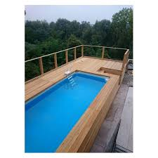 rivestimento in legno per piscine fuori terra piscina fuori terra con solarium rivestita in legno di larice