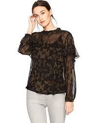 high neck ruffle blouse winter sale lucky brand s high neck ruffle blouse black