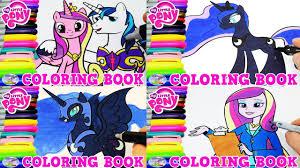 my little pony color book my little pony coloring book princess cadance luna episode