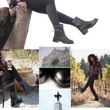 womens boots ross ross shearling moto boots black