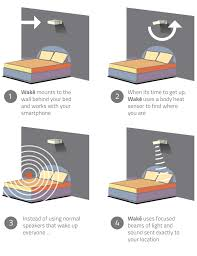 alarm clock that wakes you up in light sleep wakē changing the way the world wakes up by lucera labs kickstarter