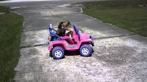 barbie jeep power wheels modified power wheels barbie jeep super charged youtube