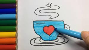 how to draw a tea cup coloring pages for kids drawing a